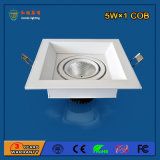 Alumínio 5W LED Grille Light para shopping center