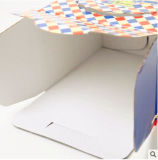 Caixa de bolo colorida personalizada da caixa da caixa do alimento
