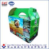 Рециркулируйте коробку коробки гофрированной бумага нестандартной конструкции качества цветастую