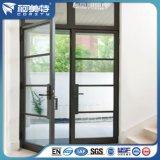 Profil en aluminium d'enduit de poudre de Brown foncé pour la porte en aluminium