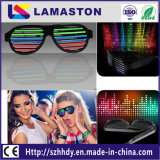 Light-Emitting bril, Shutter Shades Sound muziek geactiveerd USB Recharageable Knipperende Party brillen voor Halloween Kerstmis