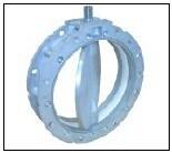Sicoma SD400mm 시멘트, 분말, 손잡이를 가진 석탄을%s 수동 나비 벨브