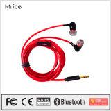 auricular estéreo de alta fidelidad atado con alambre 3.5m m del auricular móvil del negro del auricular del en-Oído