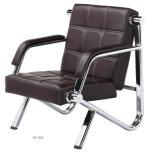 Sofá moderno confortável requintado de couro preto econômico da HOME da cadeira da recepção