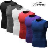 Camisa Dt0002 Compresión Sport Top ropa de la aptitud de los hombres de la gimnasia Neleo
