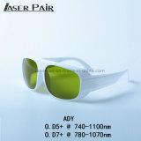 Occhiali di protezione di sicurezza di Eyewear di sicurezza di laser di Ady 740-1100nm per 755nm, 808nm, 980nm, 1064nm laser del ND YAG per rimozione del tatuaggio