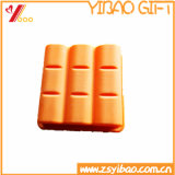 Bandeja colorida customizável do cubo de gelo do silicone da boa qualidade