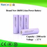 Alta qualità della batteria dello Li-ione 18650 di prezzi competitivi 3.7V 2500mAh di piena capacità