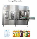 Завершите машину упаковки полностью готовый автоматического напитка бутылки фруктового сока воды заполняя обозначая