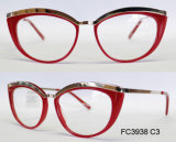 Het Optische Frame van de acetaat voor Dame met Metaal (Ce) Eyewear