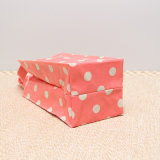 白いドット・パターンは防水するPVCキャンバスのピンクのハンドバッグ(W001)を