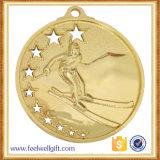 カスタム空亜鉛合金の金によってめっきされる3Dスキーメダル