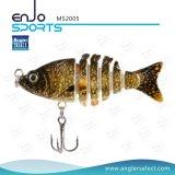 Рыболов выбирает снасть воды верхней части прикормом рыболовства 5 разделов пластичную удя (MS2005)
