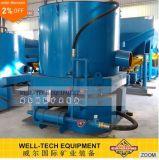 Separatore centrifugo dell'oro del concentratore dell'oro del giacimento detritico