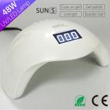 Verkaufsschlager von 2017 Sun5 mit dem niedrigen Wärme-Modell-Gel-Nagel UVled Lampe aushärtend