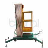 Levage hydraulique isolé de plate-forme de travail aérien de mât (8m)