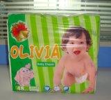 Bonne couche-culotte remplaçable de bébé avec la bande de pp