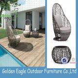 自然なデザインクッションが付いている屋外の藤の椅子