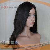 Do cabelo humano cheio de Remy do Virgin de 100% peruca superior de seda