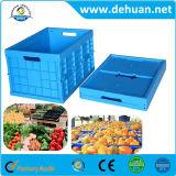 Rectángulo plástico plegable de almacenaje de la fruta plástica plegable de los envases