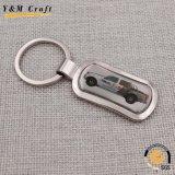 Anello chiave del regalo dell'automobile di marca del metallo su ordinazione promozionale dello spazio in bianco