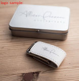 새로운 디자인 가죽 USB 섬광 드라이브 로고에 의하여 주문을 받아서 만들어지는 선물