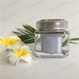 Vaso crema acrilico della lavanda quadrata 50g per l'imballaggio dell'estetica (PPC-ACJ-077)