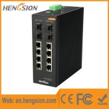 Portas de Ethernet cheias industriais do gigabit 8 & de rede de 4 SFP interruptor