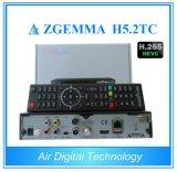 Приемник Zgemma H5.2tc Bcm73625 нового сбывания 2017 комбинированный удваивает OS Enigma2 DVB-S2+2xdvb-T2/C Linux сердечника с Hevc/H. 265