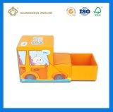 Vakje van de Verpakking van het Stuk speelgoed van het Document van de Vorm van de auto het Gelukkige Leuke (als ontwerp van de douane)