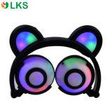Chargable無線電池白熱ライトパンダの耳のヘッドホーン