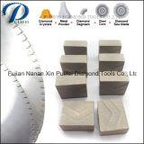 Segment en pierre de découpage aggloméré par matériau de diamant pour la lame en acier blanc