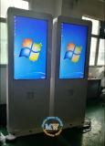 광고하는 옥외 LCD를 위한 옥외 접촉 스크린 간이 건축물을 서 있는 55 인치 지면 (MW-551OE)