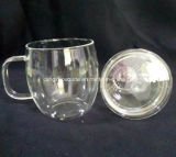 Copo de chá de vidro de Blowwn da mão com bom preço