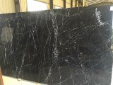Nero黒いMarquinaの大理石のタイル