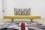 調節可能なArmrest (VV953)が付いている魅力的なデザイン居間ファブリックソファーベッド