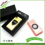 Ocitytimes 도매 금 금속 방풍 전자 담배 USB 점화기