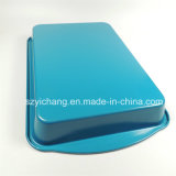 38cmのよい価格の長く青い耐熱の深皿のビスケット鍋