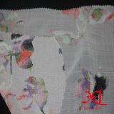 Tela Chiffon da cópia de 100% Digital para o vestido