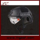 Taktischer Gang Airsoft Sicherheits-Polizei-Sturzhelm für Verkaufsförderungs-Schutzbrille-Sturzhelm