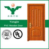 Modèle en bois européen de porte de PVC de l'atmosphère élégante