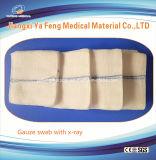 熱い販売非生殖不能の7.5cmx7.5cmの吸収性綿のガーゼの綿棒