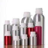 botella de petróleo esencial del aluminio 16oz con el casquillo blanco del pisón