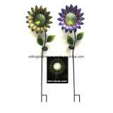 Nuova decorazione illuminata solare del giardino della sfera di vetro della farfalla e del metallo