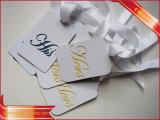 Gedruckte Papiermarken-einfache Zeichenkette-Fall-Marke für Kleid