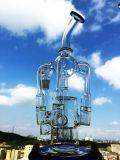 Reciclador da câmara de ar de Downtube da base da taça de Hbking tubulação de água de fumo de vidro do multi