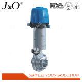 Gesundheitliches Basisrecheneinheits-Kugelventil mit pneumatischem Stellzylinder