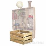 Rectángulo de almacenaje decorativo antiguo amontonable de la estantería del embalaje de madera del estilo