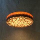 صنعت دائريّ أسطوانة خشب يعمل قرص عسل [لد] مدلّاة ضوء