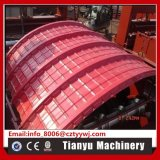 Feuille hydraulique de toit courbant la machine sertissante